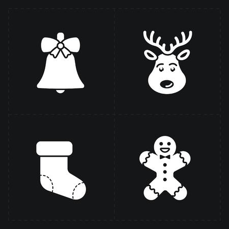 Kerstmis silhouet iconen collectie