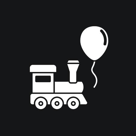 Trein en ballon speelgoed Stock Illustratie