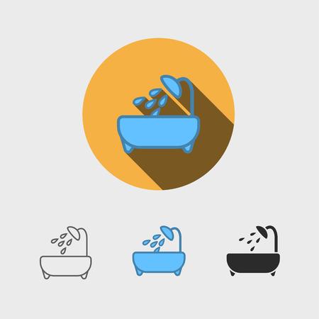 Badkuip modern pictogram