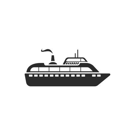 Ship modern icon Ilustração