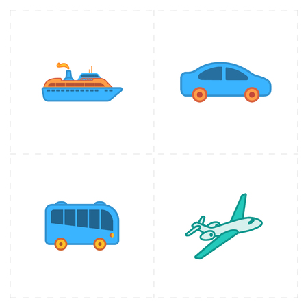 Travel design icons