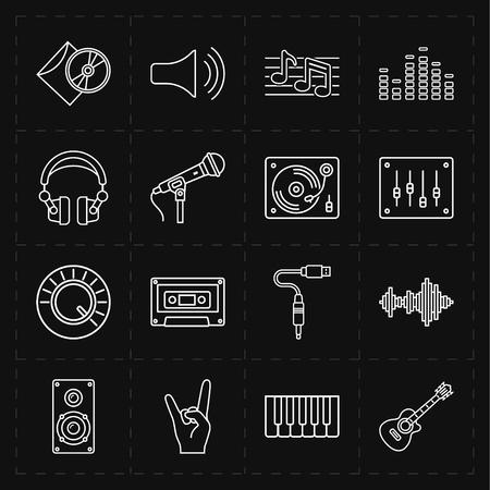 Universal music icons Ilustração