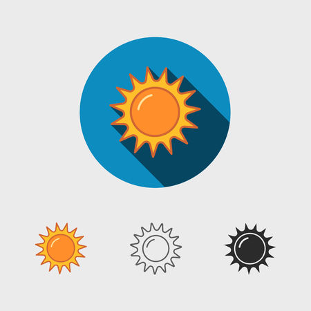 Abstract sun icon