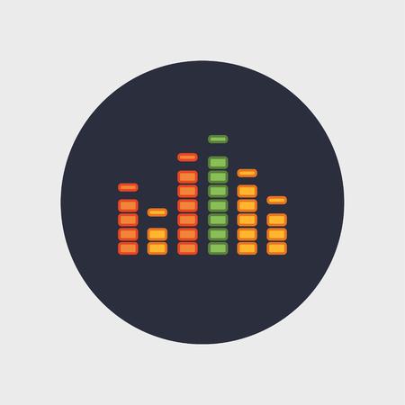 Een muziek equalizer icoon Stock Illustratie