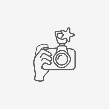 Een digitale camera bij de hand