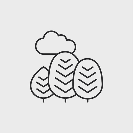 Abstract trees icon