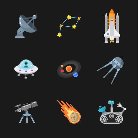 Stijlvolle ruimte iconen