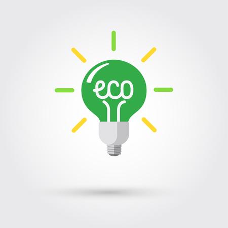 Groene ecologie lamp Stock Illustratie