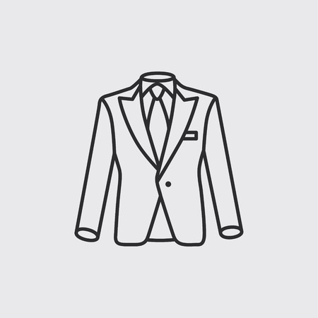 Suit modern icon