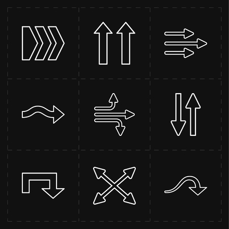 Flat modern arrows