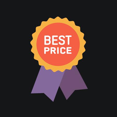 Beste prijs garantie label icoon.