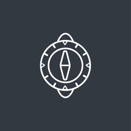 Kompas moderne icoon Stock Illustratie