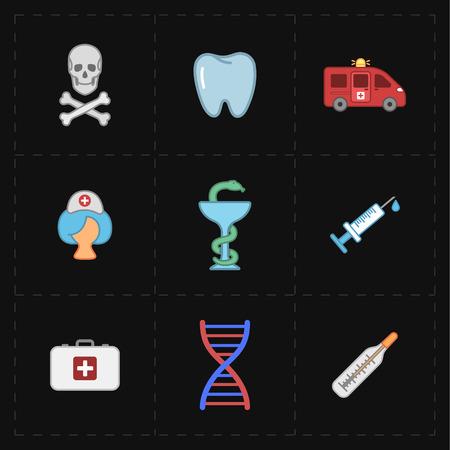 Geneeskunde moderne iconen