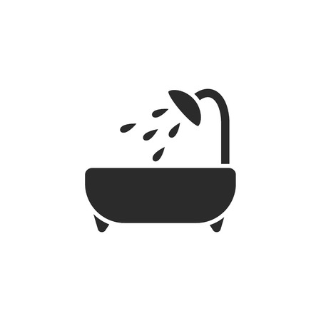 Bathtub modern icon 向量圖像