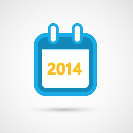 Vector Calendar Icon 2014