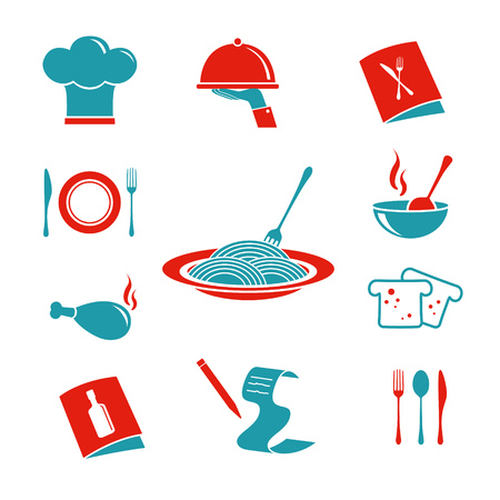 Restaurant Icons Set 向量圖像