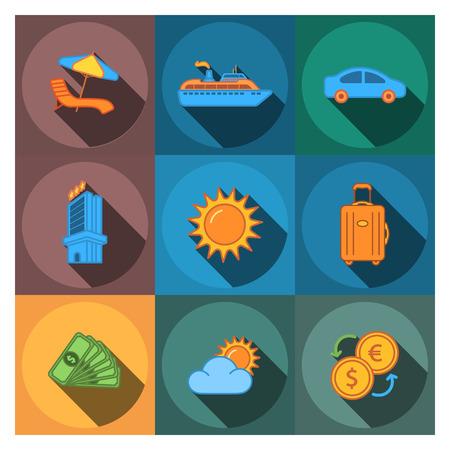 reisbedrijf pictogrammen Stock Illustratie
