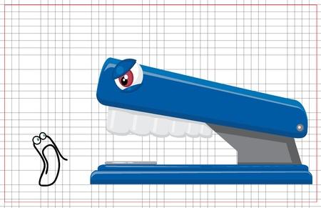 subordinate: clip and a stapler
