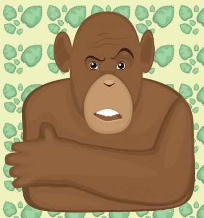 mockery: skeptical monkey Illustration