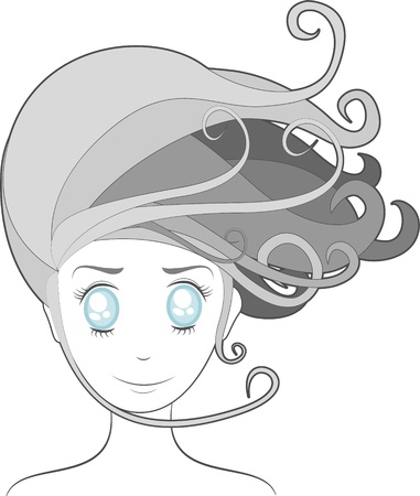 portrait of a girl Vector