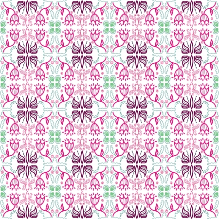 background with seamless geometric pattern in ethnic style Stock Vector - 19601104
