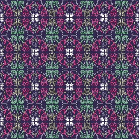 background with seamless geometric pattern in ethnic style Stock Vector - 19601094