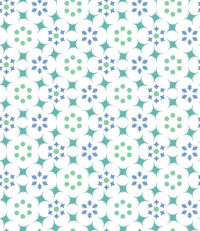 seamless background with geometric floral pattern Stock Vector - 19601095
