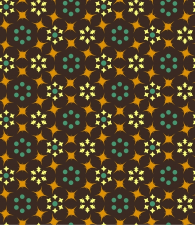 seamless background with geometric floral pattern Stock Vector - 19601105