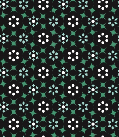 seamless background with geometric floral pattern Stock Vector - 19601108