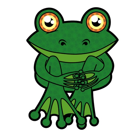 funny frog with big eyes Vector