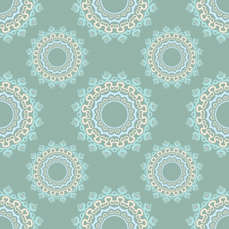 seamless geometrical colored floral pattern