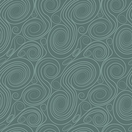 geometric seamless pattern with colored circles and swirls