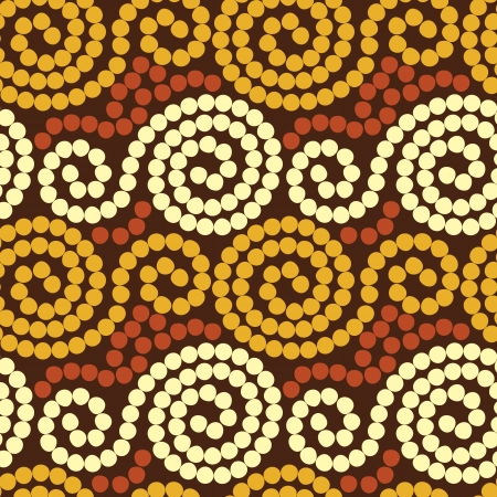 contrasts: geometric seamless pattern with colored circles in the ethnic style