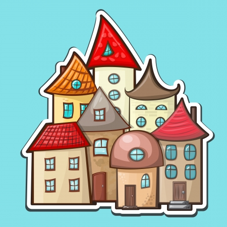 hand-drawn cartoon house icon Vector
