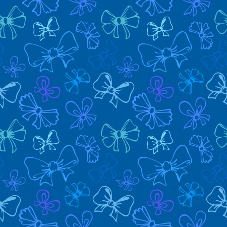seamless pattern with contour gift bow, ribbon Stock Vector - 21061469