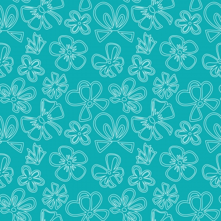holyday: seamless pattern with contour gift bow, ribbon Illustration