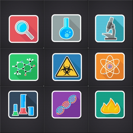 set of icons with symbols of science and medicine Stock Vector - 23206923