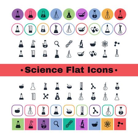 un ensemble d'icônes d'avion avec des symboles de la science et de la médecine