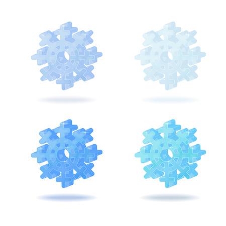 snowflake icon, bulk glass icon, 3d image of snow, snowflake Christmas Illustration