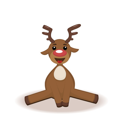 funny cartoon deer. Christmas character for a card