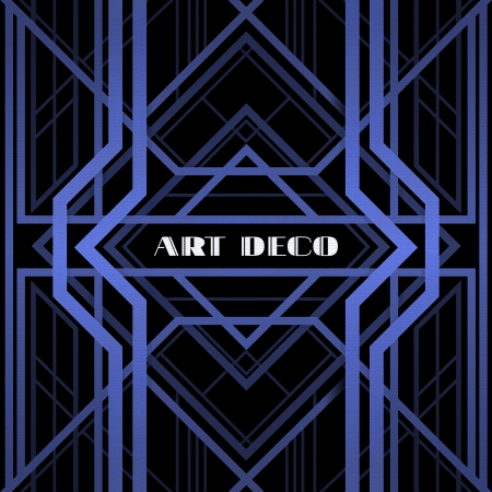 decoration elements: art deco grille, metallic abstract, geometric pattern in the art deco style