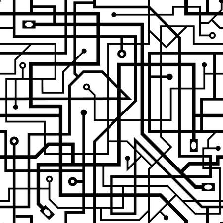 electronic background: Digital background, black and white electronic background, seamless pattern