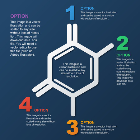 scientific background, frame in the form of molecules, infographics, design for the site, frame for text with colored figures
