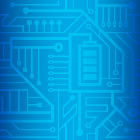 blue: seamless, motherboard, the jumble of wires blue background Illustration