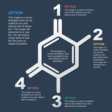 scientific background, frame in the form of molecules, infographics, design for the site, frame for text