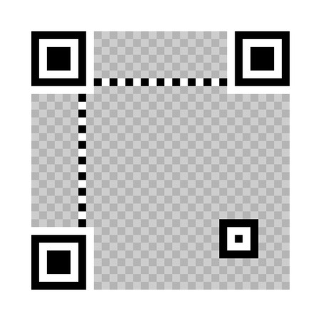 qrcode: vector QR-code on a white background, the designer to create your own binary code