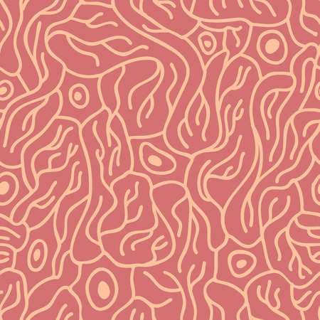brain cells: seamless pattern with neurons, scientific background with brain cells Illustration