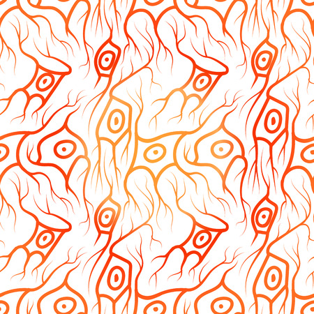 neuroscience: seamless pattern with neurons, scientific background with brain cells Illustration