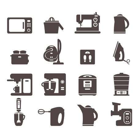 set of flat icons with home appliances