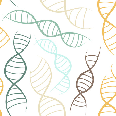 scientific background, seamless pattern with DNA, the genetic spiral Vector